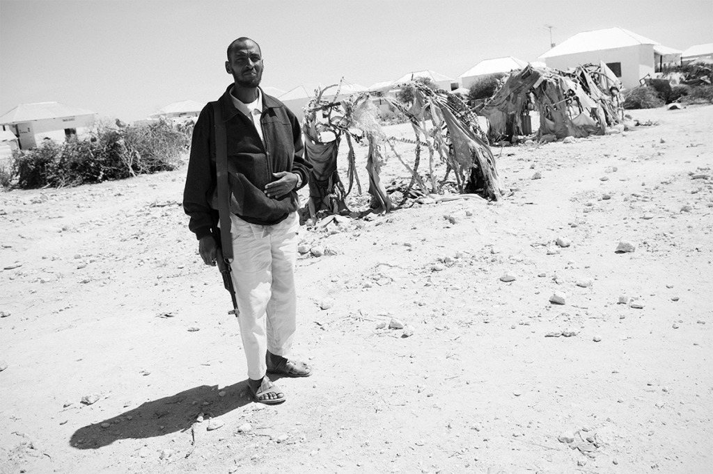 Abdueli, durante la visita al campo